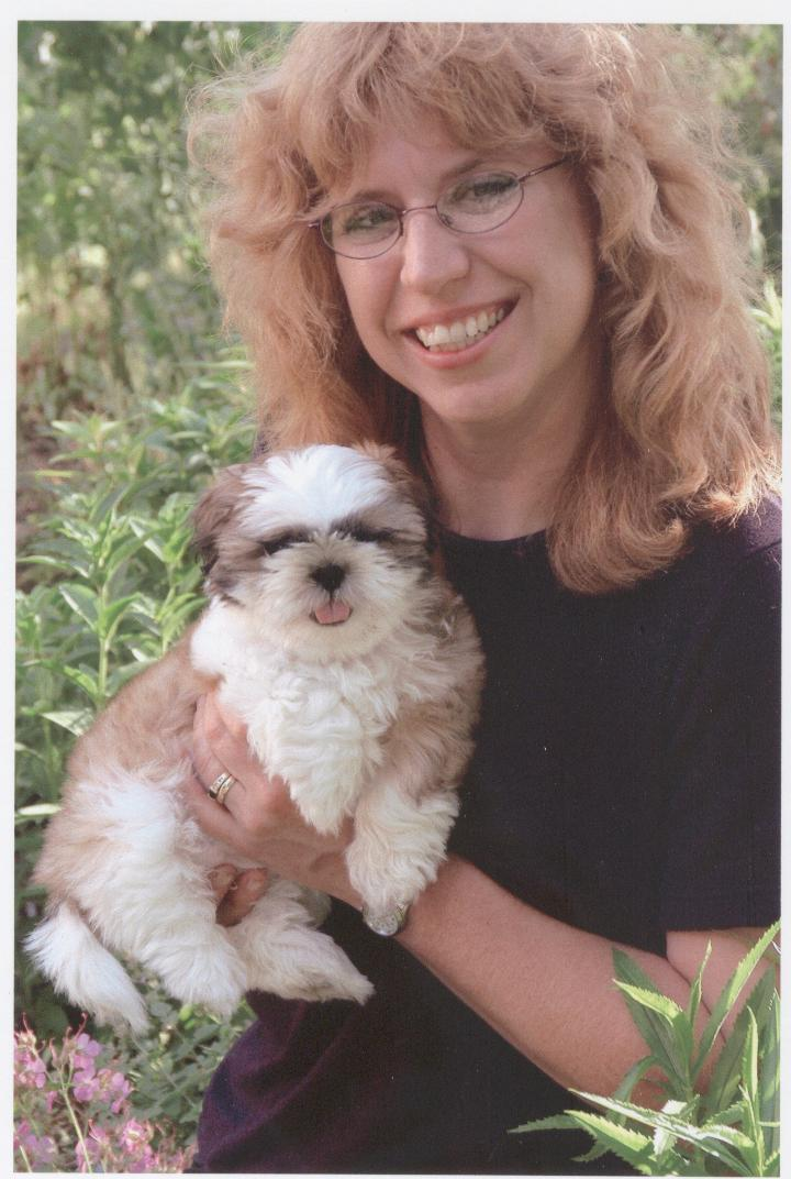 Karen Schut with puppy